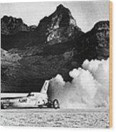 Blue Flame Rocket-powered Car, C1970 Wood Print