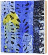 Blue Garden 1 Wood Print