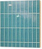 Blue Interior Tiles Wood Print