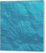 Blue Ocean Water Surface As Seen From Wood Print