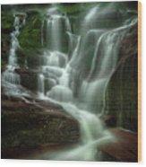 Blue Ridge Mountains Cascade Wood Print