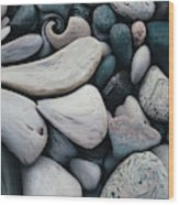 Blue Rock Garden Wood Print