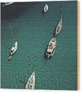 Blue Seas Wood Print