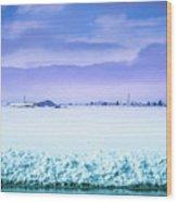 Blue Sky, White Field Wood Print