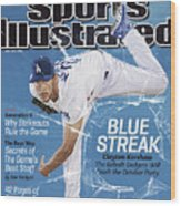 Blue Streak, 2013 Mlb Baseball Preview Issue Sports Illustrated Cover Wood Print