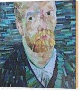 Blue Van Gogh Wood Print