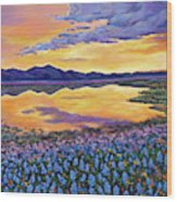 Bluebonnet Rhapsody Wood Print