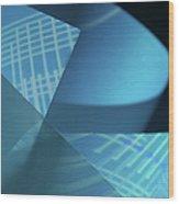 Blueprint Wood Print