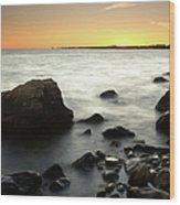 Bluff Point Sunset Wood Print