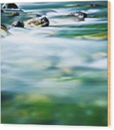 Blurred River Wood Print