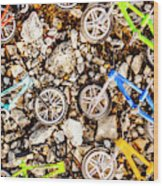 Bmx Pebble Race Wood Print