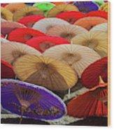 Bo Sang Umbrellas, Thailand Wood Print