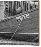 Boat At Fisherman's Cove Wood Print