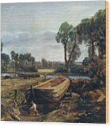 Boat Building Near Flatford Mill, 1815 Wood Print