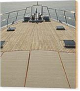 Boat Deck Wood Print