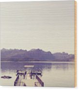 Boat Dock Tonto National Forest Wood Print