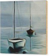 Boat Sails Wood Print