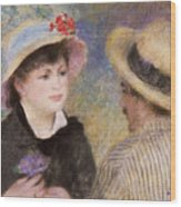 Boating Couple  Said To Be Aline Charigot And Renoir      Wood Print