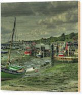 Boats At Leigh On Sea  Wood Print