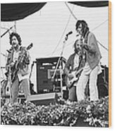 Bob Dylan & Neil Young Performing At Wood Print