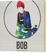 Bob Dylan Watercolor Wood Print