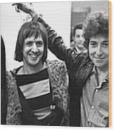 Bob Dylan With Sonny & Cher Wood Print