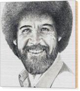 Bob Ross Wood Print
