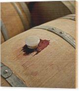 Bodegas Ysios Wine Cellar, Detail Wood Print