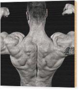 Bodybuilder Posing Wood Print