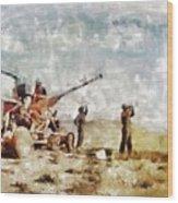 Bofors, Desert War, Wwii Wood Print