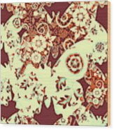 Boho Butterflies Wood Print