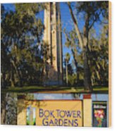 Bok Tower Gardens Poster A Wood Print