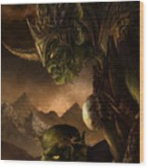 Bolg The Goblin King Wood Print