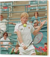 Boris Becker Swings At Tennis Ball Wood Print