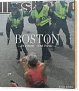 Boston Bombing Sports Illustrated Cover Wood Print