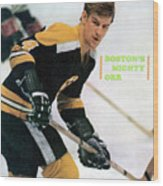 Boston Bruins Bobby Orr, 1970 Nhl Eastern Division Sports Illustrated Cover Wood Print