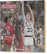 Boston Celtics Larry Bird, 1980 Nba Eastern Conference Sports Illustrated Cover Wood Print