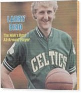 Boston Celtics Larry Bird, 1981 Nba Preview Sports Illustrated Cover Wood Print