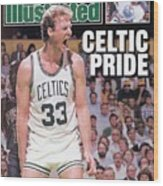 Boston Celtics Larry Bird, 1987 Nba Eastern Conference Sports Illustrated Cover Wood Print