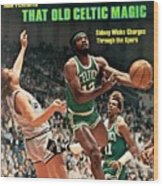 Boston Celtics Sidney Wicks, 1977 Nba Eastern Conference Sports Illustrated Cover Wood Print