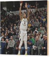 Boston Celtics V Indiana Pacers Wood Print