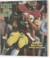 Boston College Qb Doug Flutie... Sports Illustrated Cover Wood Print