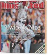 Boston Red Sox Jonathan Papelbon, 2007 World Series Sports Illustrated Cover Wood Print