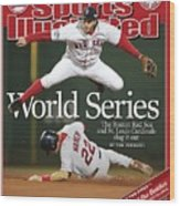 Boston Red Sox Mark Bellhorn, 2004 World Series Sports Illustrated Cover Wood Print
