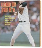 Boston Red Sox Roger Clemens... Sports Illustrated Cover Wood Print