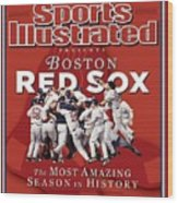 Boston Red Sox Vs St. Louis Cardinals, 2004 World Series Sports Illustrated Cover Wood Print