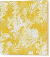 Botanical Silhouette Pattern Seamless Wood Print