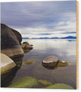 Boulders At Sand Harbor Wood Print
