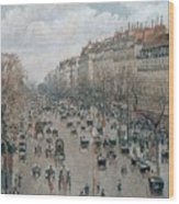 Boulevard Montmartre - Afternoon, Sunlight, 1897 Wood Print