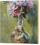 Bouquet In A Vase, 1878 Wood Print